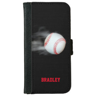 Pitch The Ball Baseball Personalized iPhone 6 Wallet Case