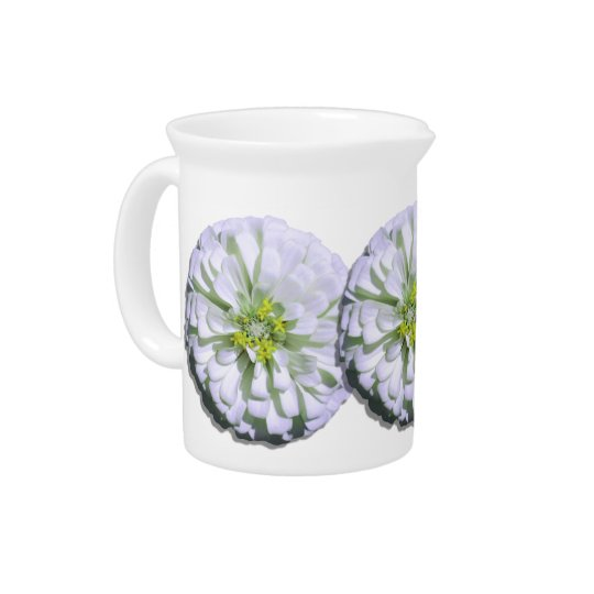 Pitcher - Lemony White Zinnia