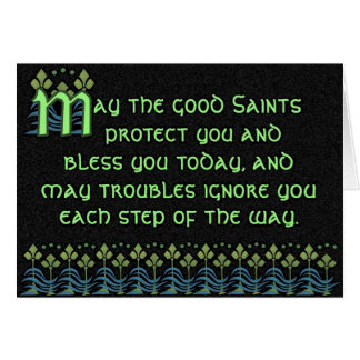 Pithy Irish Blessing Card - Customizable on inside