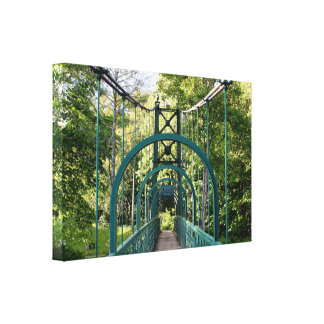 Pitlochry suspension bridge, Scotland Canvas Print