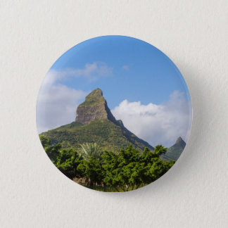 Piton de la Petite mountain in Mauritius panoramic 6 Cm Round Badge