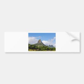 Piton de la Petite mountain in Mauritius panoramic Bumper Sticker