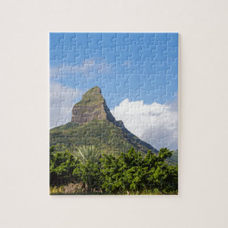 Piton de la Petite mountain in Mauritius panoramic Jigsaw Puzzle