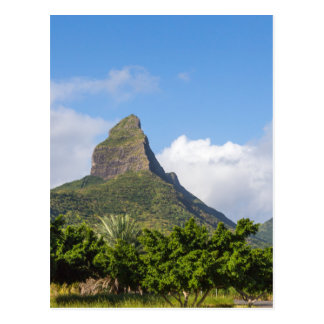 Piton de la Petite mountain in Mauritius panoramic Postcard