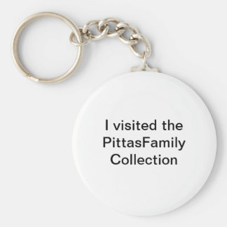 PittasFamily Collection Basic Round Button Key Ring