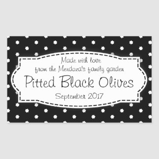 Pitted Black Olives food label sticker