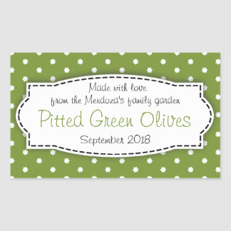 Pitted Green Olives food label sticker