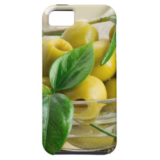 Pitted olives with green leaves and rosemary case for the iPhone 5