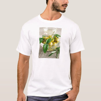 Pitted olives with green leaves and rosemary T-Shirt