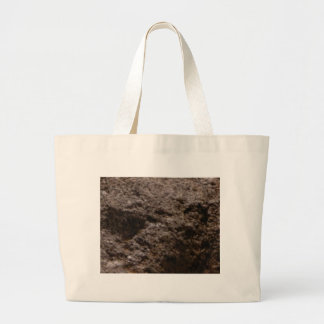 pitted rock texture large tote bag