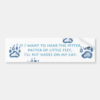 Pitter Patter Bumper Sticker