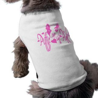 Pittie in Pink Shirt