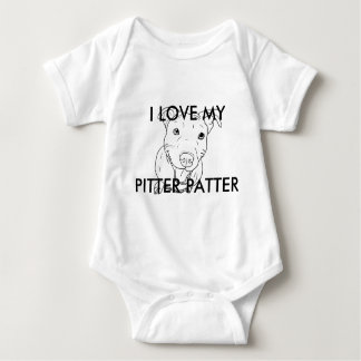 Pittie Love Baby Bodysuit