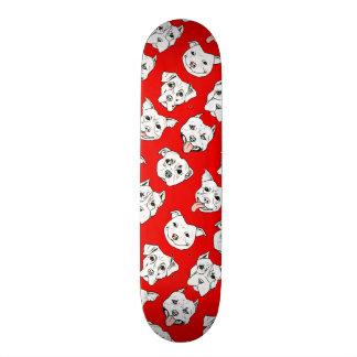 """""""Pittie Pittie Please!"""" Dog Drawing Pattern Skateboard"""