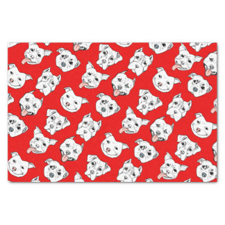 """Pittie Pittie Please!"" Dog Drawing Pattern Tissue Paper"