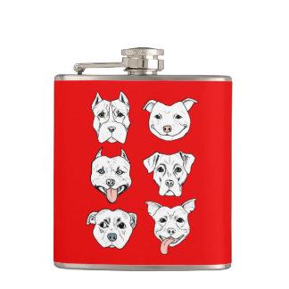 Pittie Pittie Please! Hip Flask