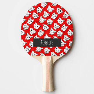 Pittie Pittie Please! Ping Pong Paddle