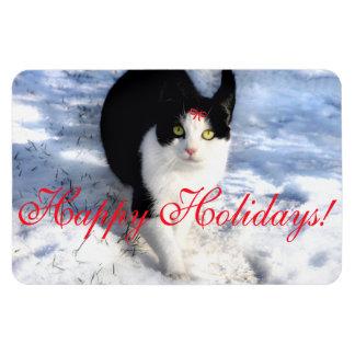 """Pittipat"" Happy Holidays Photo Magnet"