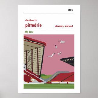 Pittodrie, Aberdeen. Vintage look seagull print