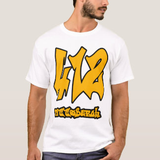 Pittsburgh 412 Area Code Shirt - Steelers Colors