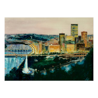 Pittsburgh at Dusk Poster
