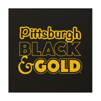 PITTSBURGH BLACK AND GOLD WALL ART
