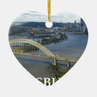 pittsburgh ceramic heart decoration