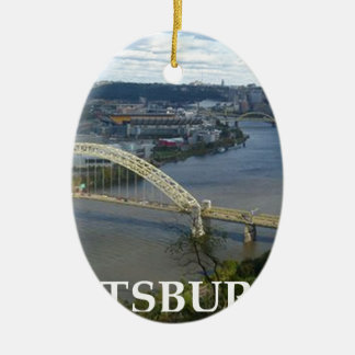 pittsburgh ceramic oval decoration