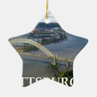 pittsburgh ceramic star decoration