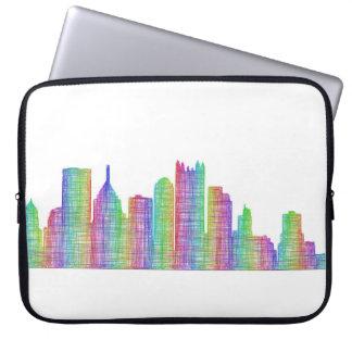 Pittsburgh city skyline computer sleeves