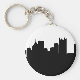 Pittsburgh City Skyline Key Ring