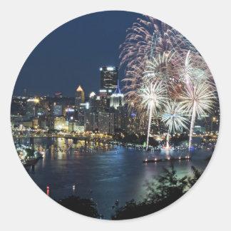 Pittsburgh Fireworks Classic Round Sticker