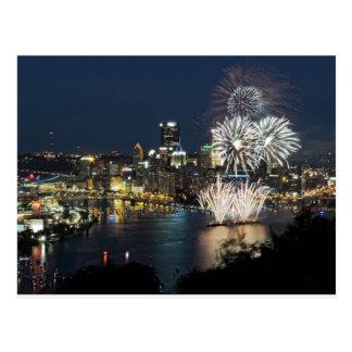 Pittsburgh Fireworks Postcard