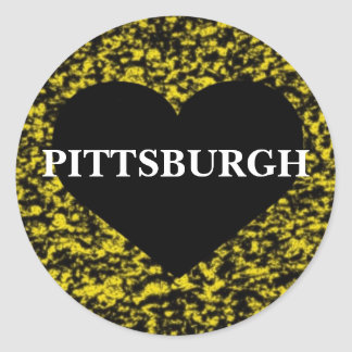 Pittsburgh Heart Classic Round Sticker