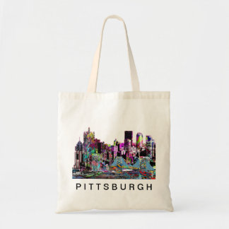 Pittsburgh in graffiti tote bag