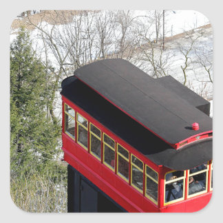 Pittsburgh Incline Plane Square Sticker
