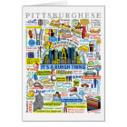 Pittsburgh Language Fun Pittsburghese Artwork Card