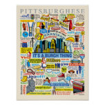 Pittsburgh Language Fun Pittsburghese Artwork Poster