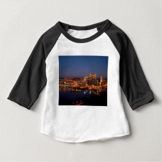 Pittsburgh Night Skyline Baby T-Shirt