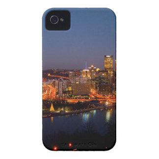 Pittsburgh Night Skyline iPhone 4 Case
