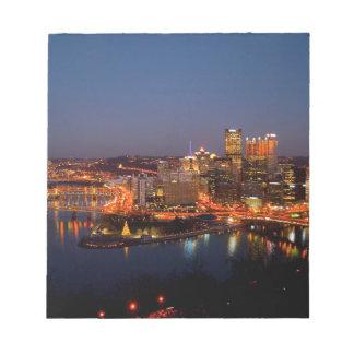 Pittsburgh Night Skyline Notepad