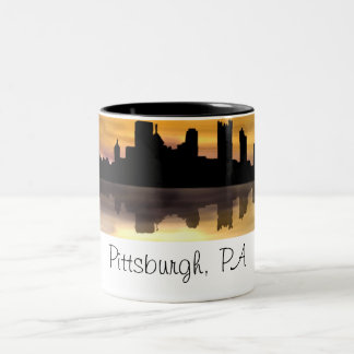 Pittsburgh, PA Two-Tone Coffee Mug