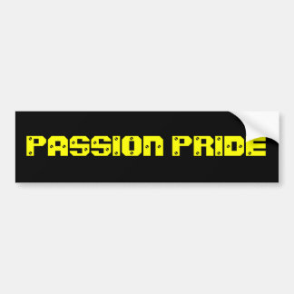 Pittsburgh Passion Bumper Sticker