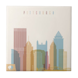Pittsburgh, Pennsylvania | City Skyline Ceramic Tile