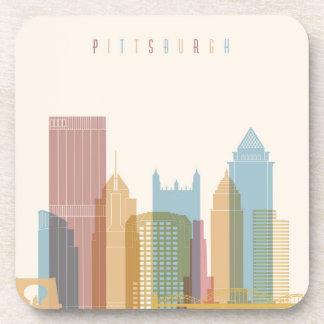 Pittsburgh, Pennsylvania | City Skyline Drink Coasters