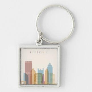 Pittsburgh, Pennsylvania   City Skyline Key Ring