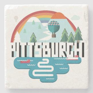 Pittsburgh, Pennsylvania | Cityscape Design Stone Coaster