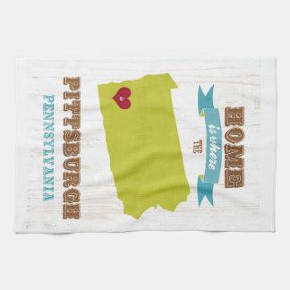 Pittsburgh, Pennsylvania Map – Home Is Where Tea Towel