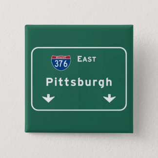 Pittsburgh Pennsylvania pa Interstate Highway : 15 Cm Square Badge