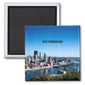 Pittsburgh, Pennsylvania skyline photograph Magnet